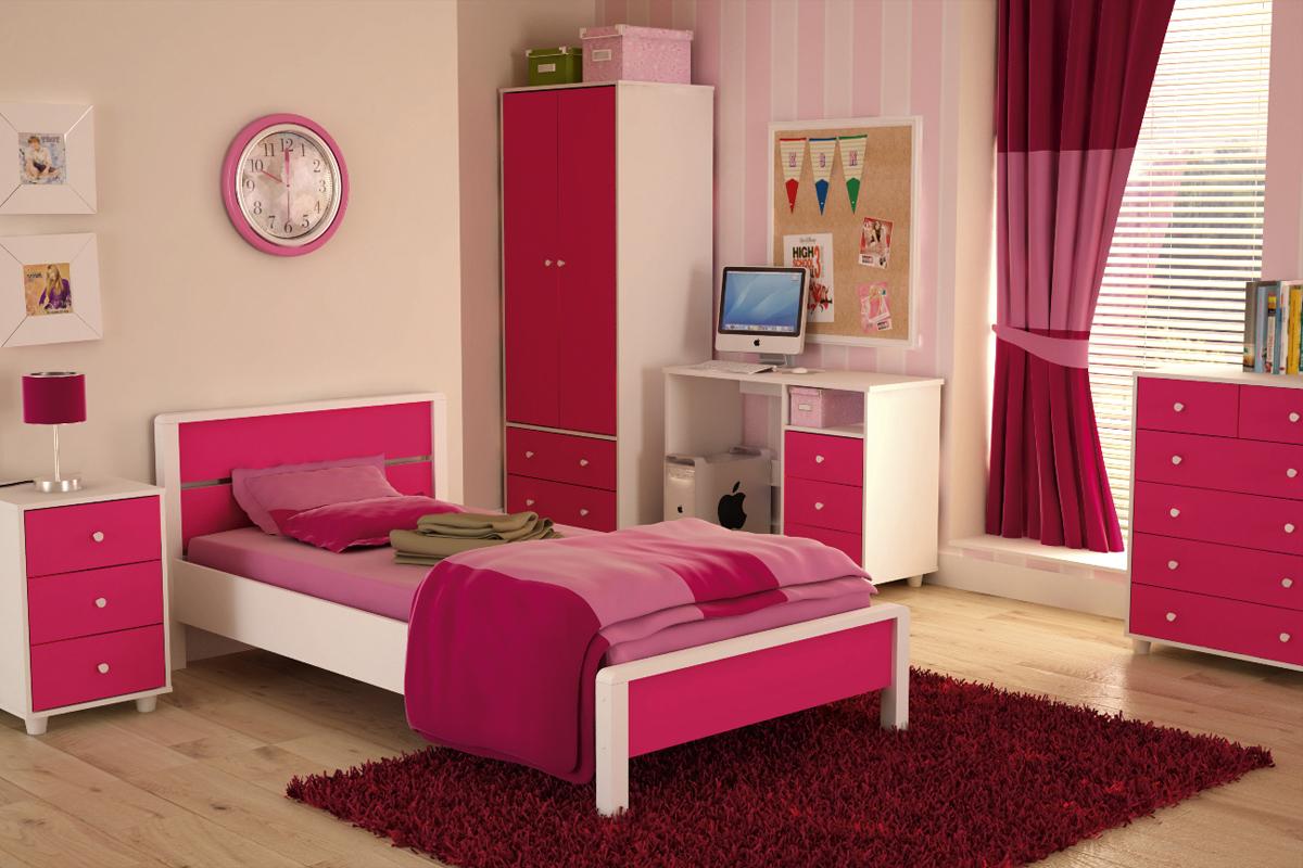 غرف نوم بنات وردية | المرسال