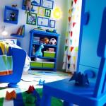 غرفة زرقاء اللون من ايكيا للأطفال