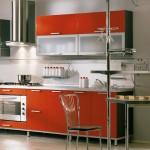 مطبخ ايطالي جديد لون اورانج برتقالي - 5245