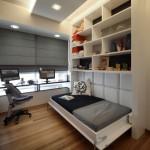 تصميم عصري سيرير واحد مفرد في غرفة صغيرة - 4449