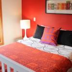 دهان جدران لون احمر لغرفة النوم - 5010