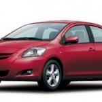 سيارة تويوتا يارس الحمراء المميزة