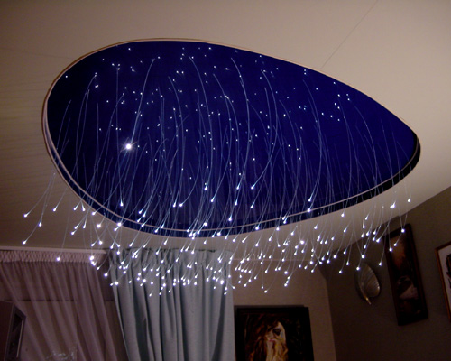 اسقف غرف النوم الفرنسية المضيئة