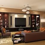 غرفة مشاهدة تلفزيون حديثة