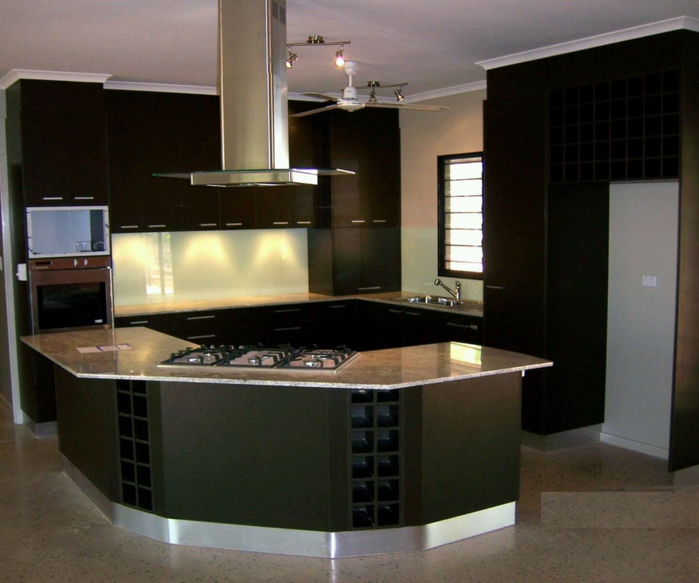 Modern Kitchen Remodeling Ideas: مطبخ بفكرة جديدة اسود