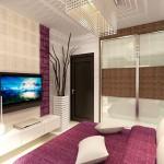 غرفة باللون الموف والابيض - 6480