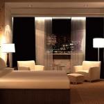 تصميم غرف اسود وبيج - 6481