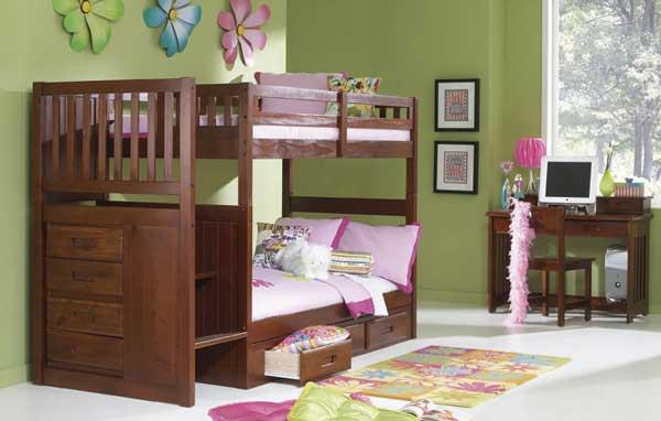 تصميم سرير دورين للبنات | المرسال