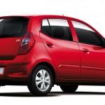 خلفية السيارة هيونداي الحمراء