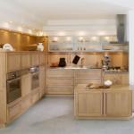 مطبخ خشبي لون بيج - 6629