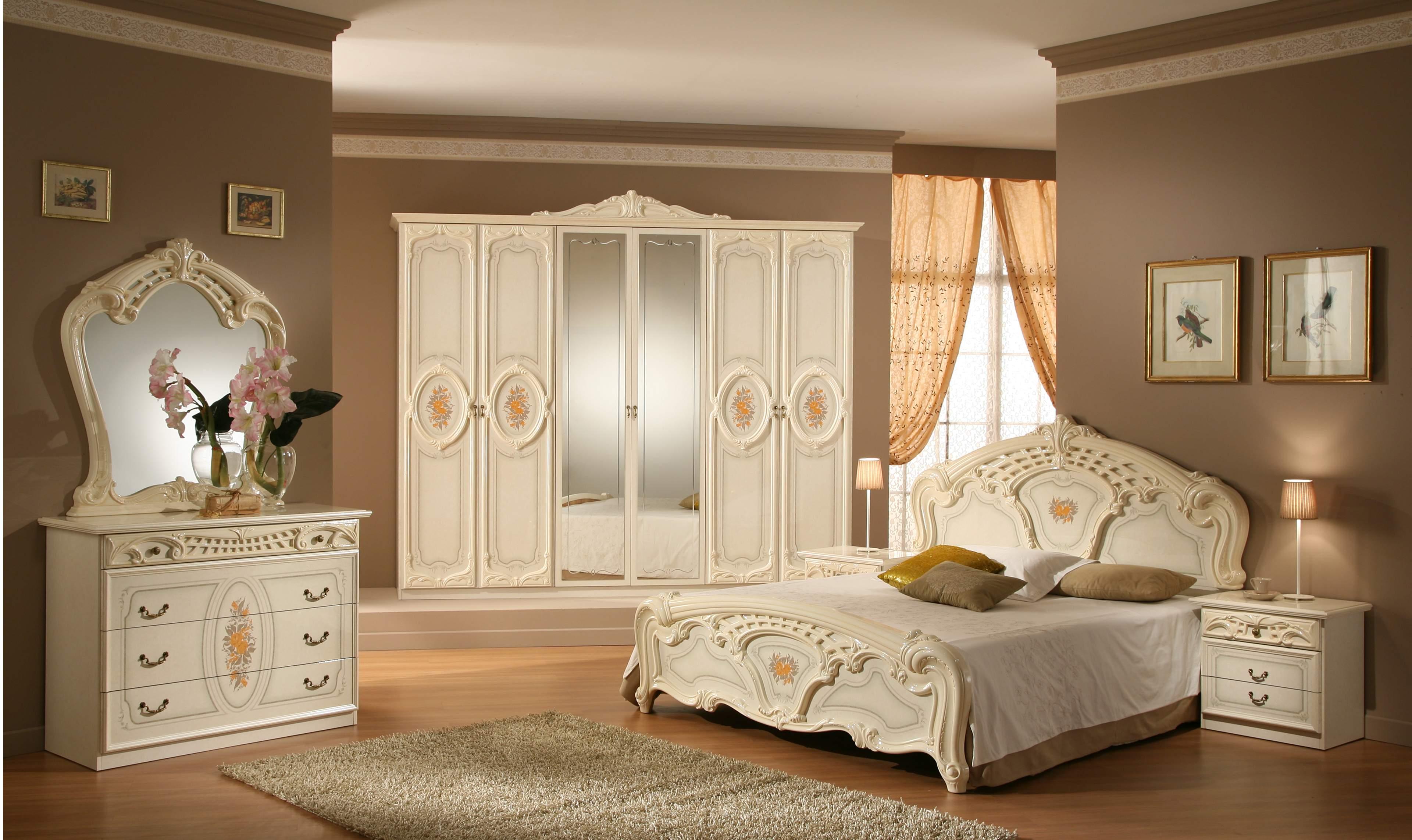غرفة نوم كلاسيكيه ابيض | المرسال