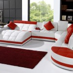 غرفة معيشة أحمر فى ابيض - 15680