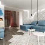 غرفة معيشة بألوان الطبيعة - 15682