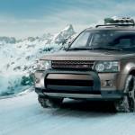 صورة السيارة رينج روفر سبوت 2013 تمشى على الثلج