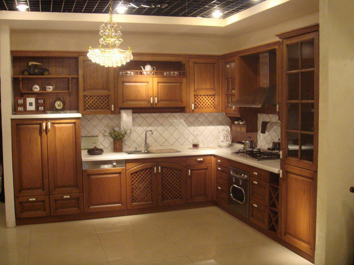China Kitchen Cabinets موديلات المطابخ الخشبية الجديدة المرسال