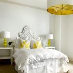 ديكورات اللون الاصفر لغرف النوم