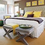 احلى الالوان لغرفة النوم بالمخدات واللوحات