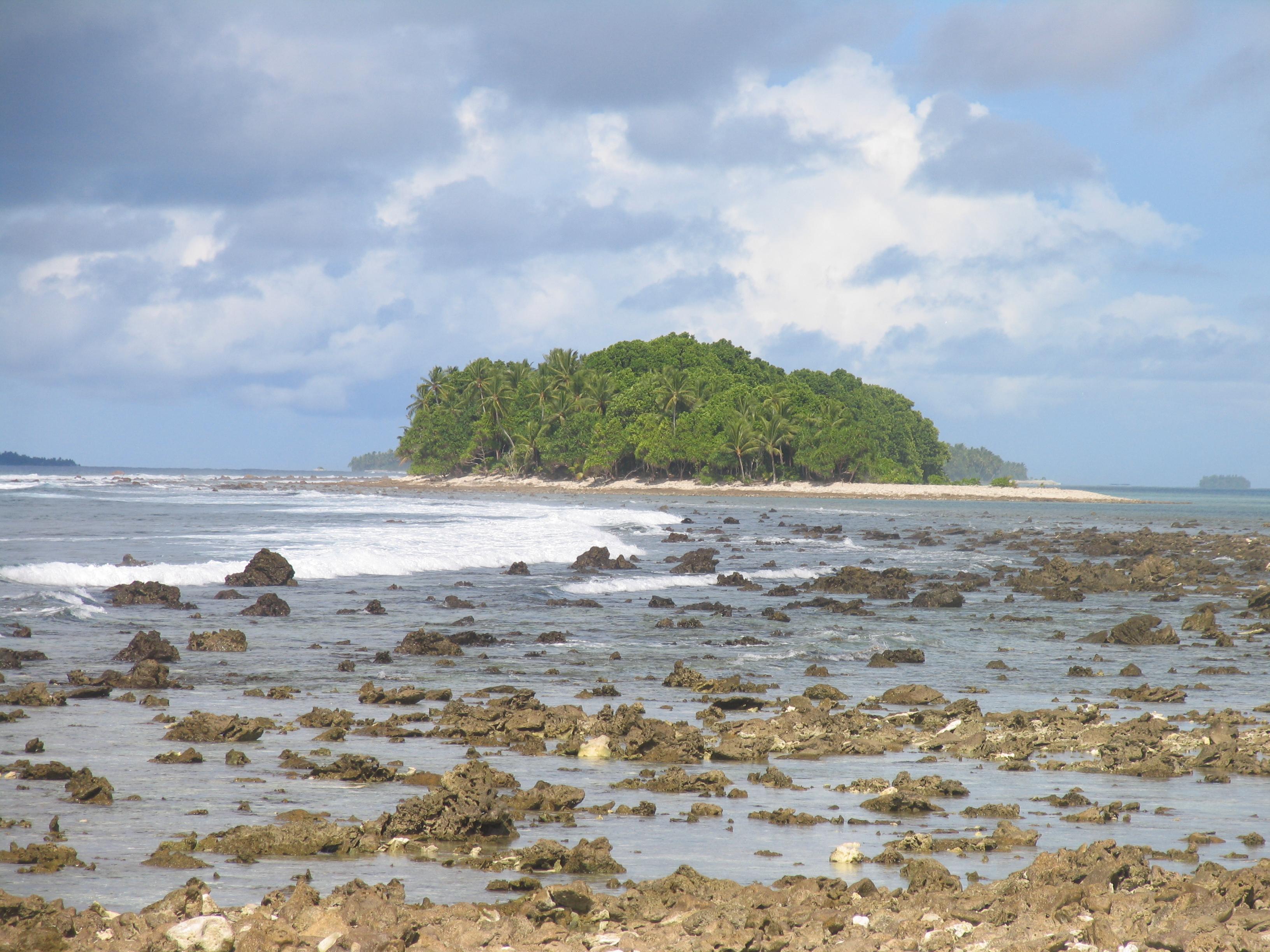 المناظر الخلابة في توفالو والجزير المحيط الهادئ