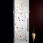 باب زجاج ابيض وأحمر - 16962