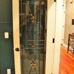 باب غرفة خشب وحدد وزجاج - 16968