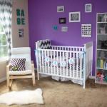 تصميم غرفة نوم أطفال مع تداخل اللون البنفسجي في الديكور - 19246