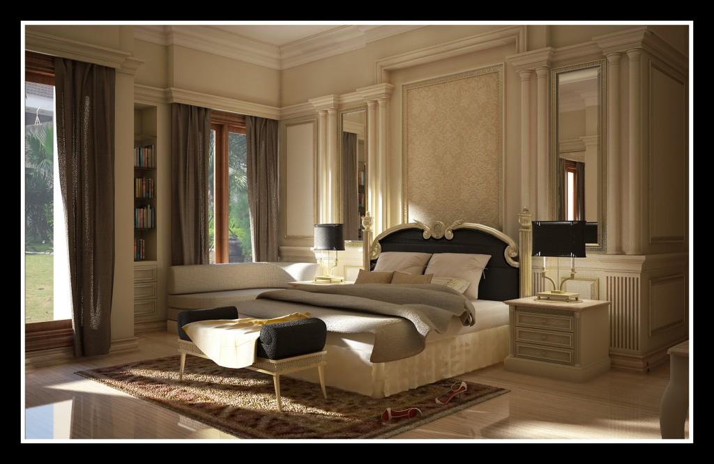 تصميم لجناح غرفة نوم أنتيكة المرسال