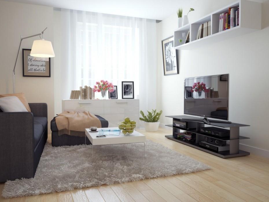 غرفة معيشة واسعة ومذهلة التصميم