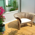 كرسي حديقة خشب