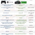 صورة مواصفات جهاز إكس بوكس وان و جهاز بلاي ستيشن 4 كاملة