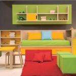 غرفة أطفال لطفلين بألوان جذابة - 16276
