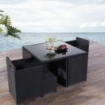 تصميم لكراسي الحدائق باللون الأسود