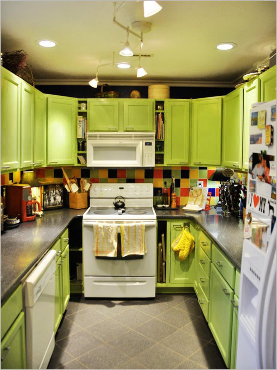 for Orange and brown kitchen decor