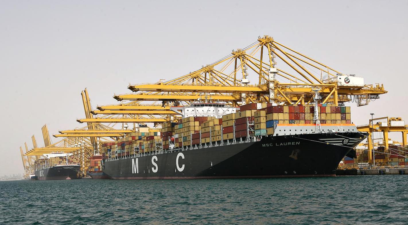 Image result for ميناء جبل علي بالإمارات