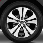 شكل الاطارات والجنط للسيارة كيا سبورتاج 2014