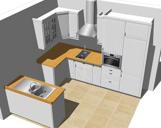 Kitchen Cabinet D Model Free