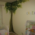 تصميم غرفة نوم الأطفال البيج بدهانات جذابة