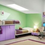 غرفة نوم الأطفال بدهانات أنيقة