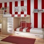 غرفة نوم الأطفال مودرن بدهانات مخططة