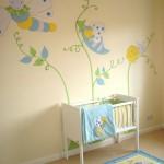 غرفة نوم الاطفال بدهان ورسومات