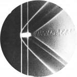 التصوير الفوتوغرافي من موجات صدمة القوس حول رصاصة نحاسية، 1888