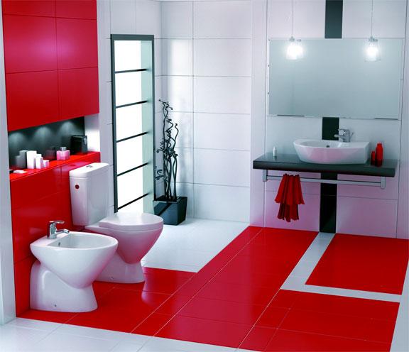 سيراميك باللون الأبيض والأحمر المرسال