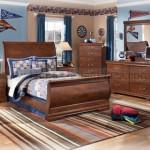 غرف نوم باللون البني فخمة - 21998