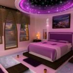 اللون الموف والأبيض في تزيين غرف النوم - 26658