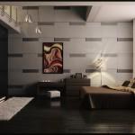 غرف نوم مودن بدرجات اللون البني - 27895