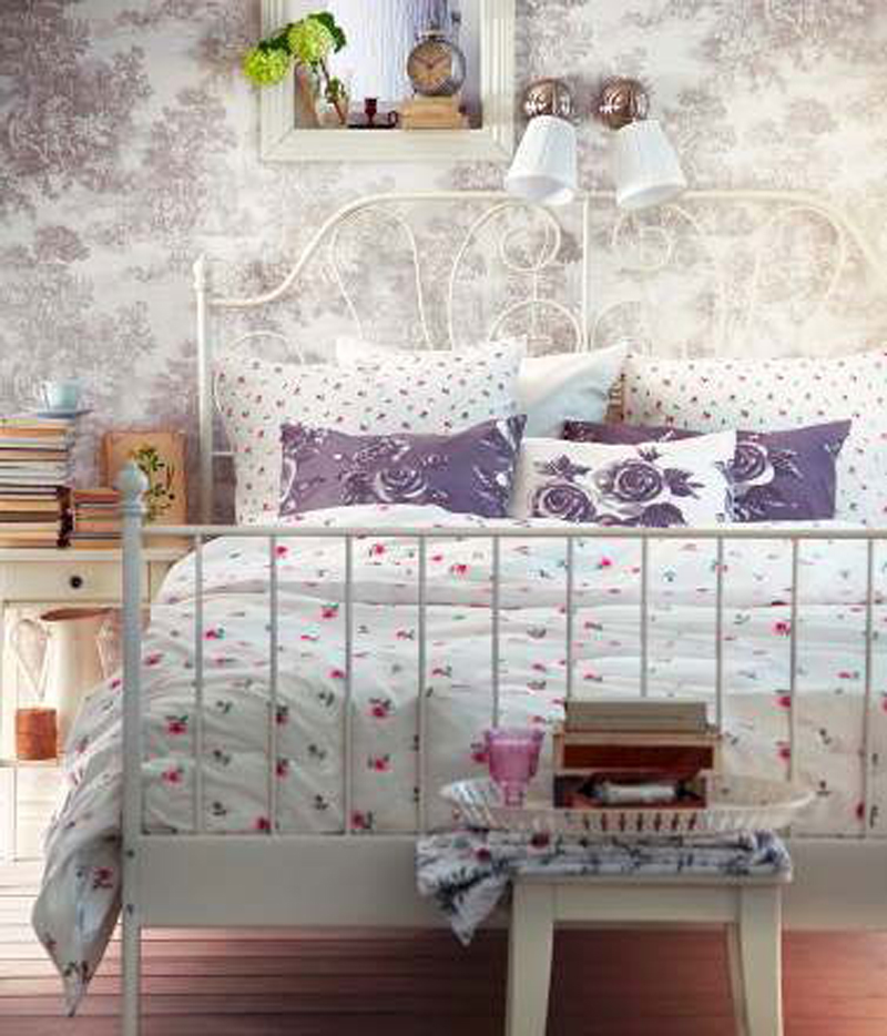 تصاميم غرف نوم ايكيا بيضاء بسيطة | المرسال