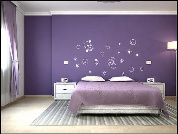 تصميم غرف نوم بنفسجي هادئة | المرسال