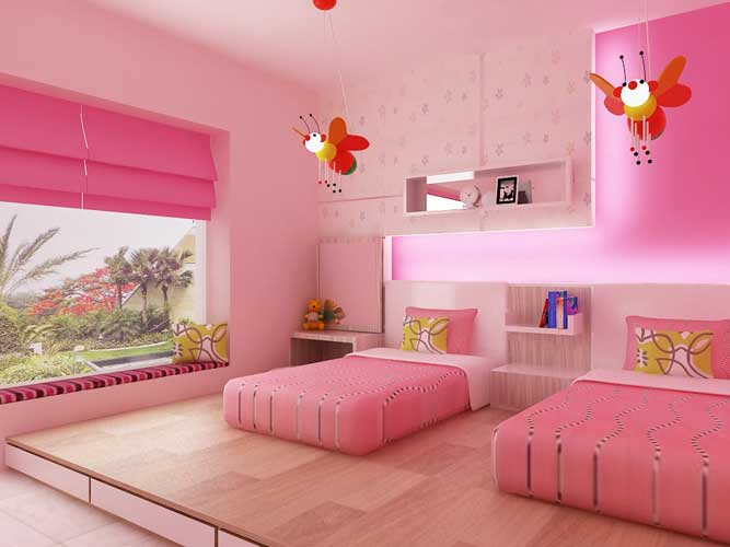 7 Inspiring Kid Room Color Options For Your Little Ones: تصاميم غرف نوم بناتي جميلة