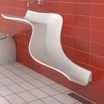 حوض حمام باللون الأبيض