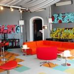 غرف معيشة ملونة