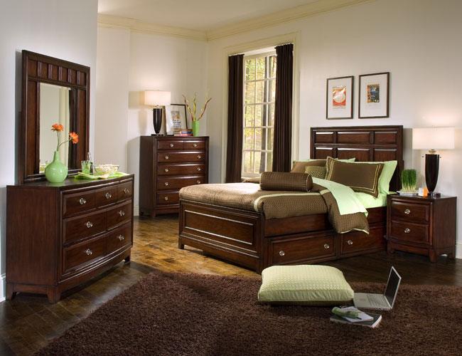 تصاميم غرف نوم بني وبنفسجي | المرسال